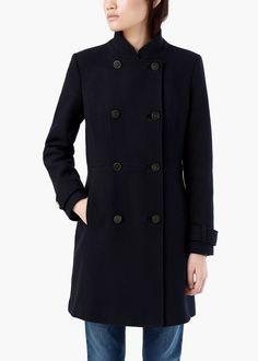 Abrigo lana doble botonadura