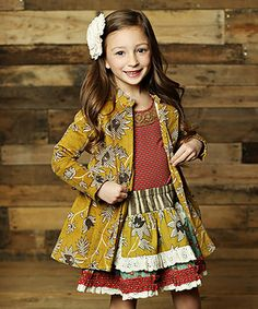 Look at this #zulilyfind! Mustard Sargent Jane Jacket - Infant, Toddler & Girls #zulilyfinds