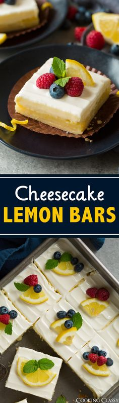Cheesecake Lemon Bars - Cooking Classy