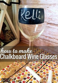 Whose glass is this? How many times have you heard that a party… or said it yourself at your own home? Eliminate this problem by learning how to paint wine glasses with chalkboard paint, so everyone can label their own glasses. Now there will be no wondering if you are stealing someone else's glass. Problem solved!