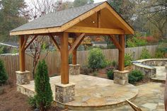 The pergola kits are the easiest and quickest way to build a garden pergola. There are lots of do it yourself pergola kits available to you so that anyone could easily put them together to construct a new structure at their backyard. Backyard Gazebo, Outdoor Pergola, Pergola Plans, Outdoor Rooms, Outdoor Gardens, Outdoor Living, Pergola Ideas, Pergola Roof, Cheap Pergola