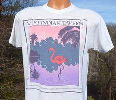 vintage 80s tee WEST INDIAN tavern caribbean beach by skippyhaha