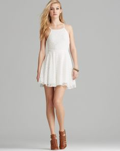 MINKPINK Dress - Lace Fit and Flare | Bloomingdale's