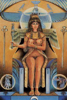 The Empress - Tarot of the Ages by Mario Garizio Isis Goddess, Mother Goddess, True Tarot, Egyptian Mythology, Hero's Journey, Tarot Card Decks, The Empress, Major Arcana, Oracle Cards