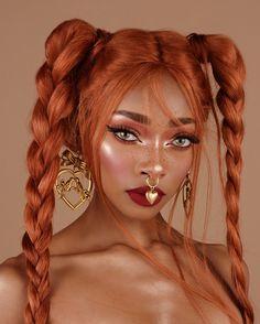 Nyane Lebajoa - GesichtMake Up Lime Crime Makeup, Beauty Makeup, Hair Makeup, Hair Beauty, Glow Makeup, Makeup Art, Makeup Ideas, Hair Inspo, Hair Inspiration