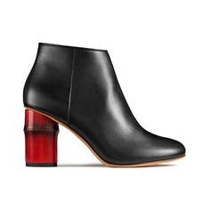Acne Studios Luda black red are ankle boots with bamboo heels.  Ankelstövlar 1001d3a23ed62