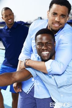Michael Ealy, Kevin Hart and Terrence Jenkins all from the movie Think like a man
