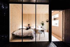 Postavit maličký dům a zasadit strom. DONE je český tiny house, který lze složit vlastníma rukama House Bunk Bed, Bunk Beds, House In Nature, Construction Process, Wooden Walls, Cozy House, Designer, Studios, Bedroom