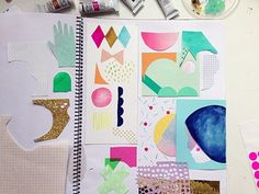 I love the idea of a paper piecing journal