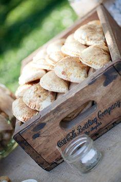 Rustic Chic March Wedding Ideas, Wood wedding box, mason jar table decor idea, vintage wedding snacks www.dreamyweddingideas.com