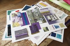 Moodboards in the Designers Guild London showroom