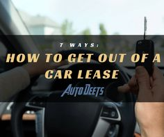 """""""How to get out of a car lease"""" is not answered merely by returning the vehicle and keys to the lot. Termination fees, charges for mileage or wear and tear and other costs may await you if end the lease early.  Find out the 7 ways of how to get out of a car lease. Read about it here.  #HowToGetOutOfACarLease  http://bit.ly/2pFNjP2"""