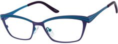 Women's Purple 1639 Stainless Steel Full-rim Frame | Zenni Optical Glasses-XNkudo39