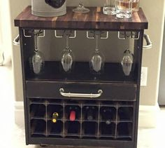 s we couldn t believe these started as ikea rasts, painted furniture, repurposing upcycling, A Classy Wine Cart