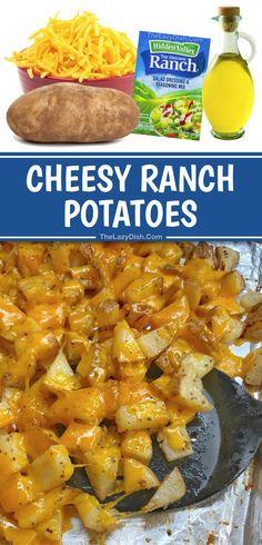 Cheesy Ranch Potatoes (Easy Side Dish Recipe!)
