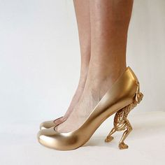 """D-printed shoes that represent 12 of Sebastian Errazuriz's lovers-- """"Gold Digger"""" what a high maintenance woman! Description from pinterest.com. I searched for this on bing.com/images"""