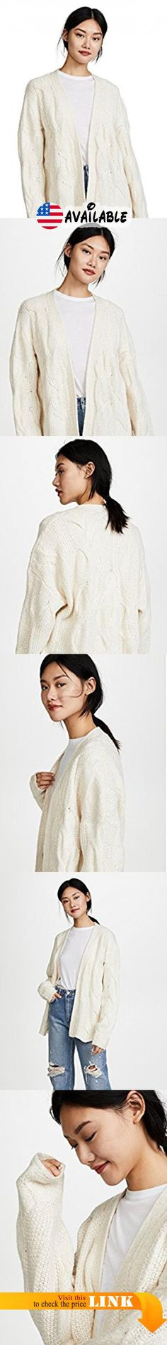 B07811WBBV : LINE Women's Marion Cardigan Ivory X-Small. Cable knit. 50% cotton/30% acrylic/11% polyester/6% alpaca/2% nylon. Dry clean. Width Length: 27.25in / 69cm from shoulder #Apparel #SWEATER