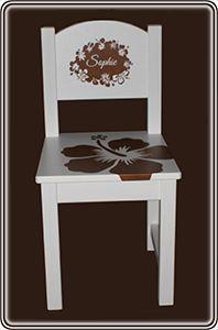 Kinderstoeltje met naam of logo | Miss Plotter