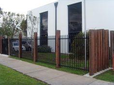 Backyard Fence Styles and Modern Fence Roseville Michigan. Brick Fence, Front Yard Fence, Pool Fence, Backyard Fences, Fence Garden, Concrete Fence, Cedar Fence, Aluminum Fence, Aluminium Fencing
