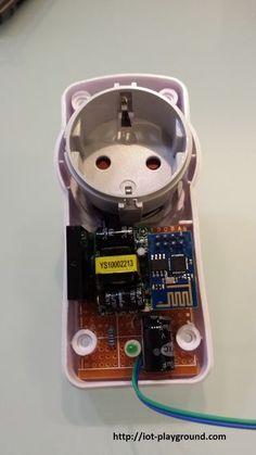 ESP8266 WiFi controlled power socket