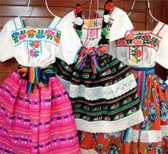 Vestidos indígenas mexicanos.