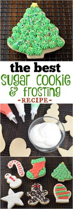 This is the best Cream Cheese Sugar Cookie and frosting recipe. Perfect for those hand decorated Christmas cookies.