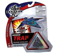 Bakugan Battle Brawlers New Vestroia Bakugan Trap - Darkus Tripod Epsilon by Spin Master. Save 75 Off!. $9.99. Brand new package includes 1 Bakugan Trap, 1 ability card, and 1 metal gate card. Bakugan operate magnetically. Simply place the marble onto any metal surface and the figure will pop right open. Can be used in combination with regular Bakugan for more powerful attacks!. Warning! Risk of serious digestive injuries in the event that magnets are swallowed!. For age 5 and ...