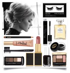 """""""Subtly Glam"""" by sixthandsocial on Polyvore featuring Essie, Guerlain, shu uemura, Christian Dior, Gucci, Tom Ford, Yves Saint Laurent, Too Faced Cosmetics, Chanel and women's clothing"""