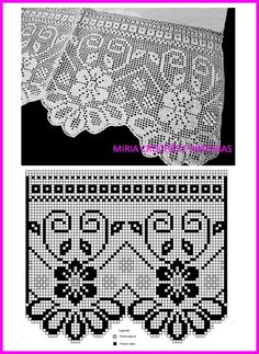 This Pin was discovered by Hul Crochet Patterns Filet, Crochet Curtain Pattern, Crochet Bedspread, Crochet Lace Edging, Crochet Curtains, Curtain Patterns, Crochet Borders, Crochet Art, Filet Crochet