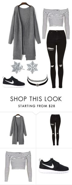 """"" by angela229 ❤ liked on Polyvore featuring moda, Topshop, NIKE, Charlotte Russe i Bling Jewelry"