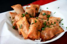 Baked Homemade Pizza Rolls: Wonton wrappers make these super-easy.