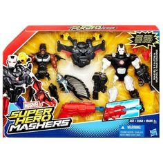 "Marvel Super Hero Mashers Battle Mash Pack Falcon & War Machine 6"" Action Fig. Mix and match parts to create custom Super Hero mash-ups."