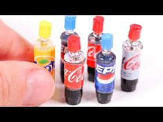 DIY miniature Baby Bottles ~ with Milk, Water, and Orange Juice - YouTube