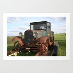 FORD Truck Art Print by Andrea Jean Clausen - $17.68