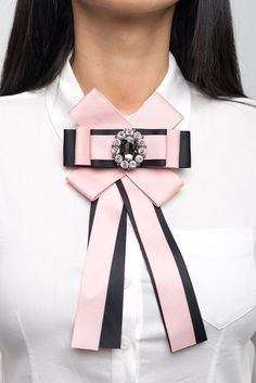Pink & Black #brooch Pin