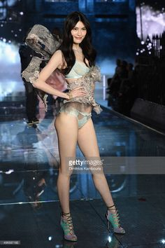 Model Sui He from China walks the runway during the 2015 Victoria's Secret Fashion Show at Lexington Avenue Armory on November 10, 2015 in New York City.