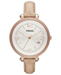 Fossil Watch, Womens Heather Tan Leather Strap