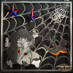 """Sailor Web"" Tattoo metal art inspired by Sailor Jerry created by Dan Statler."