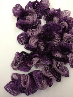You now have a ready to wear ruffle scarf.