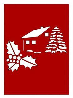 CHRISTMAS SCENERY CARD GSD PDF SVG on Craftsuprint designed by Apetroae Stefan…