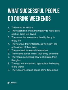 They Think Successful People Work During Weekends, But The Truth Isn't. Self Development, Personal Development, Leadership Development, Motivacional Quotes, Cover Quotes, Self Improvement Tips, Transform Your Life, Better Life, Self Help