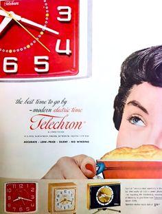 Telechron clock advertisement, 1953