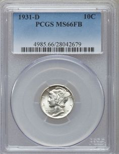 1931 D Mercury Dime PCGS MS66 FB - SUPERB FULL BAND GEM.  Available now at Finger Lakes Numismatics. Visit our store or contact us at (315) 308-6943 or email us at coins.fln@gmail.com