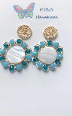 Wire Earrings, Bridal Earrings, Earrings Handmade, Handmade Jewelry, Pearl Jewelry, Wire Jewelry, Beaded Jewelry, Diy Bracelets Easy, Jewelry Patterns