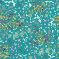 Tissus Art Gallery - Floret Stains Tealberry