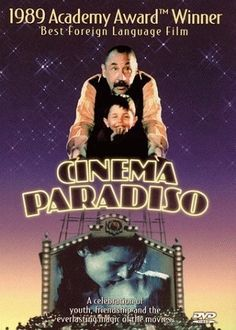 Cinema Paradiso. Giuseppe Tornatore's Oscar-winning film follows Salvatore, a Sicilian boy who is mesmerized by the movies shown at the local theater. He befriends projectionist Alfredo, who mentors him and ultimately tells him to leave home to pursue his dreams. Now a famous film director, Salvatore returns home for the first time 30 years later for Alfredo's funeral and is overcome with warm memories of his childhood even as the town has changed.     www.foreignfilm.com