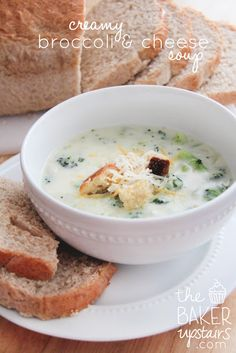 creamy broccoli and cheese soup // the baker upstairs http://www.thebakerupstairs.com