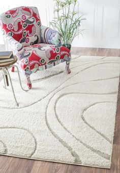 Turkish Curves Shaggy Rug by DECORmyHOME on Etsy
