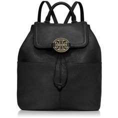 e24efff7a55ac The Tory Burch Amanda Black Leather Backpack is a top 10 member favorite on  Tradesy.