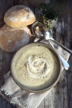 Sunday Night Portobello Mushroom Soup with Gruyere